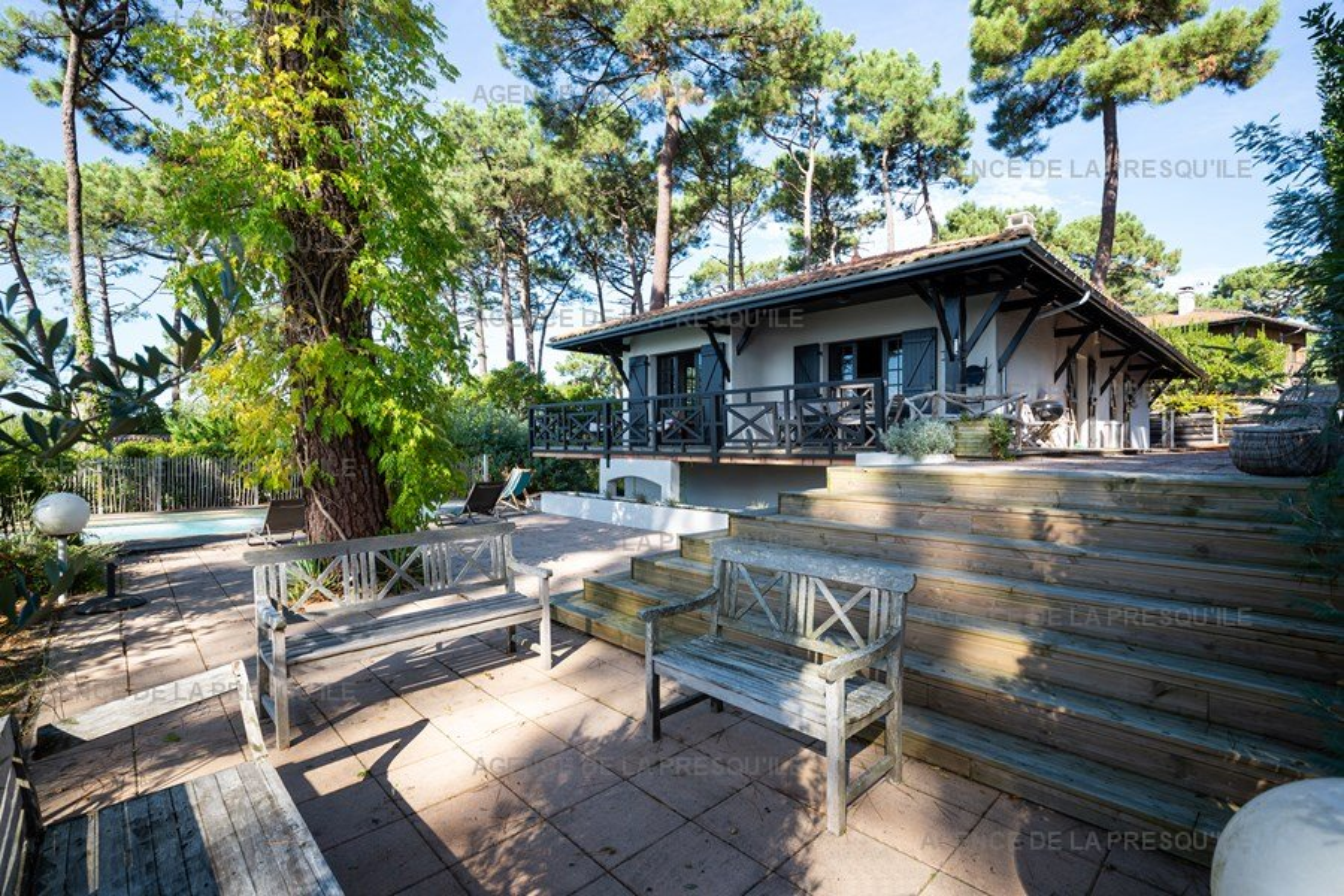 Location: Charmante villa avec piscine, vue bassin, à deux pas des plages 5