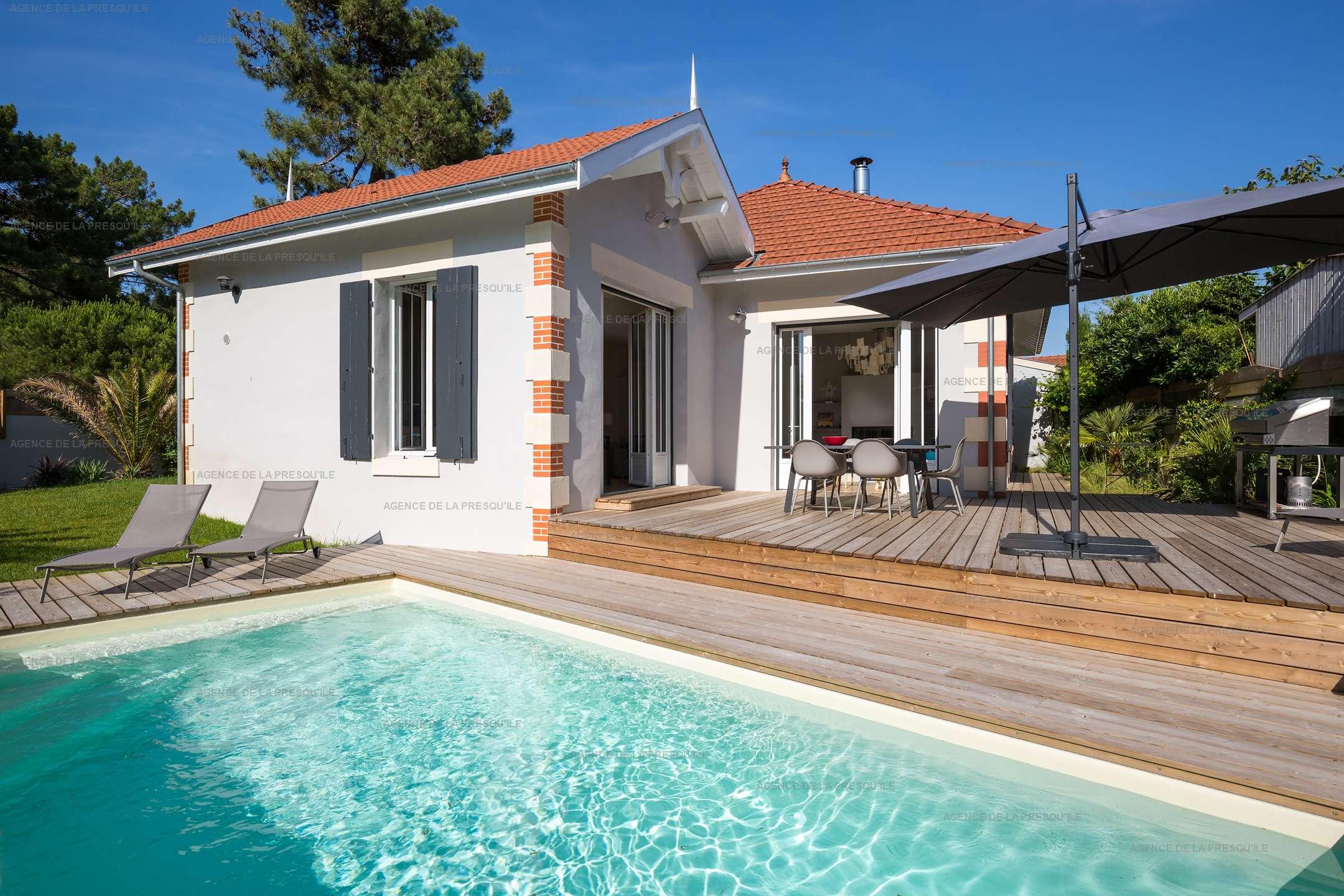 Location: Très belle villa avec piscine au centre du cap-ferret 2