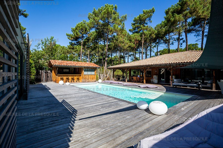Location: Villa d'architecte avec piscine chauffée, entre bassin et océan 7