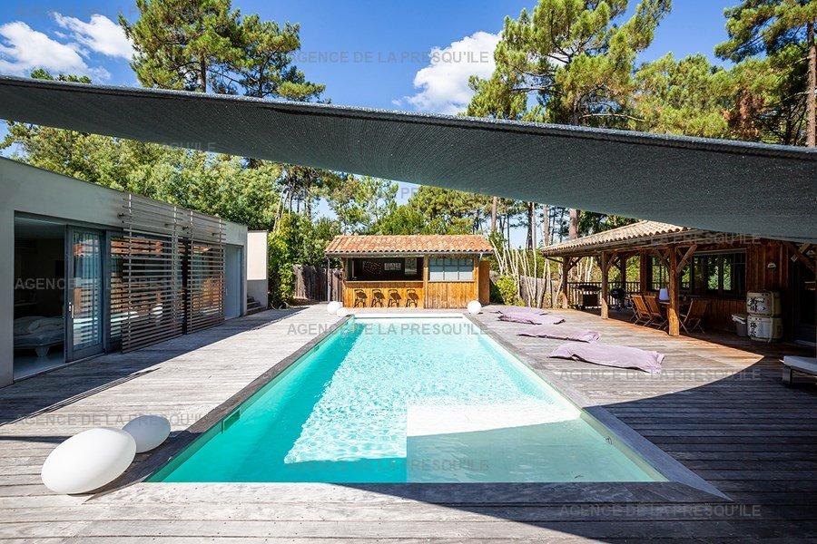 Location: Villa d'architecte avec piscine chauffée, entre bassin et océan 9